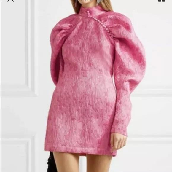 3188fde71e7c ROTATE by Birger Christensen Pink Jacquard Dress